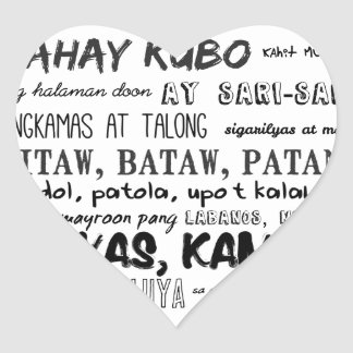 Filipino Nursery Rhyme Series Heart Sticker