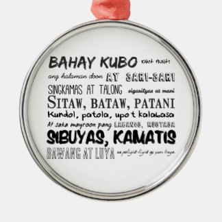 Filipino Nursery Rhyme Series Metal Ornament