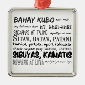 Filipino Nursery Rhyme Series Metal Ornament
