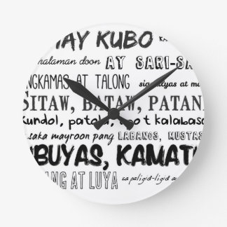 Filipino Nursery Rhyme Series Round Clock