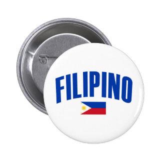Filipino Philippine Flag 2 Inch Round Button