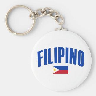 Filipino Philippine Flag Basic Round Button Keychain