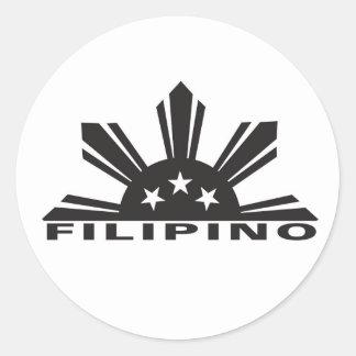 Filipino Pinoy Pride Classic Round Sticker