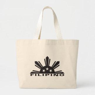 Filipino Pinoy Pride Large Tote Bag