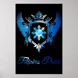 Filipino Pride Crest Poster