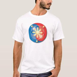 Filipino Red and Blue Yin Yang T-Shirt