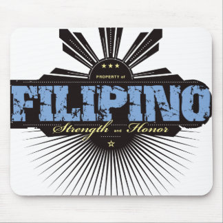 Filipino Strength and Ho  - Blue Mouse Pad