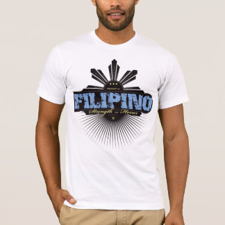 Filipino Strength and Ho  - Blue T-Shirt