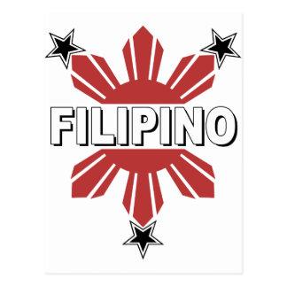 Filipino Sun and Star Postcard