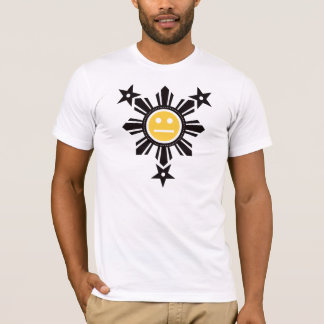 Filipino Sun and Stars Face - Black and Yellow T-Shirt