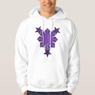 Filipino Sun and Stars Hoody Purple