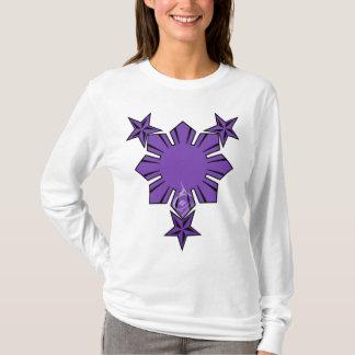 Filipino Sun and Stars Long Sleeve Shirt Purple