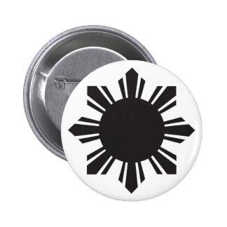 Filipino Sun - Black Button