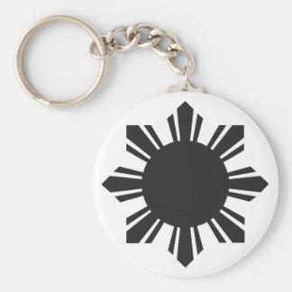 Filipino Sun - Black Keychain