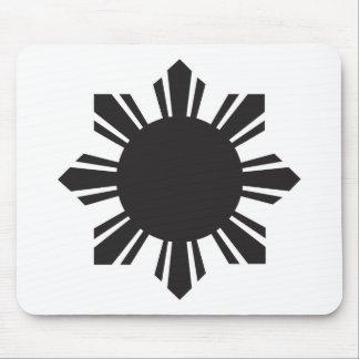 Filipino Sun - Black Mouse Pad