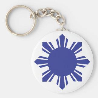 Filipino Sun - Blue Keychain
