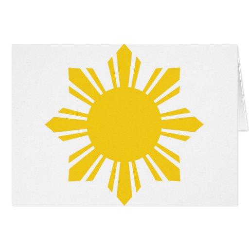 Filipino Sun el | Filipinas Sun Tarjeta De Felicitación