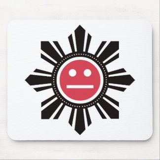 Filipino Sun Face - Red Mouse Pad