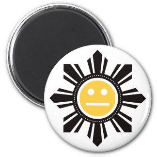 Filipino Sun Face - Yellow Magnet
