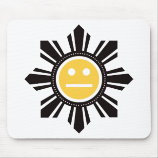 Filipino Sun Face - Yellow Mouse Pad