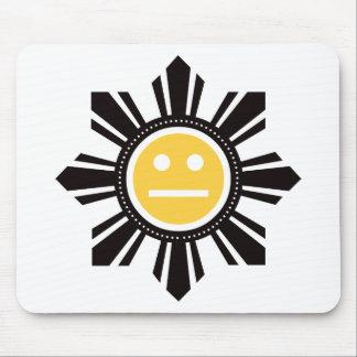 Filipino Sun Face - Yellow Mouse Pad