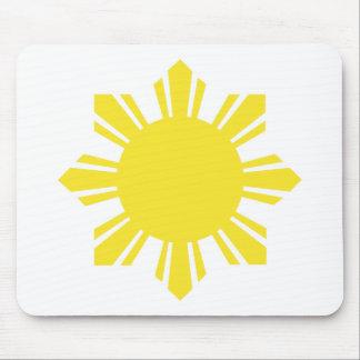 Filipino Sun - Yellow Mouse Pad