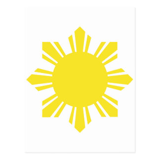 Filipino Sun - Yellow Postcard