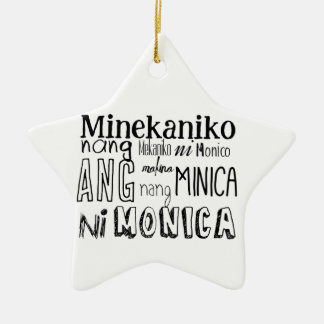 Filipino Tongue Twister Series Ceramic Ornament