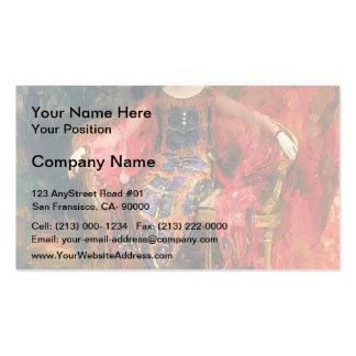 Filipp Malyavin- Portrait of Alexandra Balashova Business Card Template