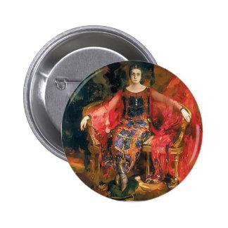 Filipp Malyavin- Portrait of Alexandra Balashova Button