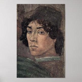 Filippino Lippi - autorretrato del artista Póster