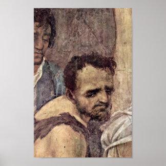 Filippino Lippi - cara de un malvado Póster