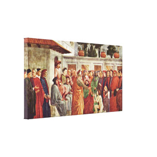Filippino Lippi - Prince Peter in Cathedra Gallery Wrapped Canvas