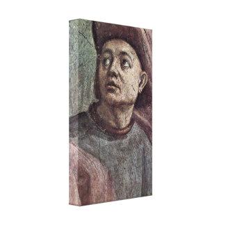 Filippino Lippi - Raising of the Son of Teophilus Canvas Prints