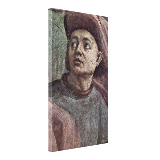 Filippino Lippi - Raising of the Son of Teophilus Stretched Canvas Prints