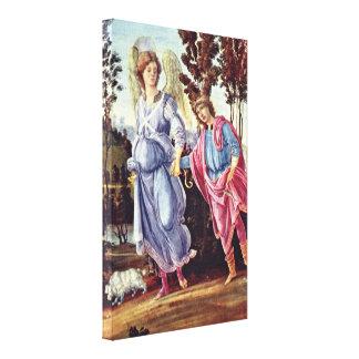 Filippino Lippi - Tobias y el ángel Impresiones En Lona Estiradas