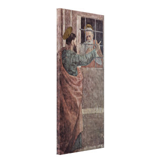 Filippino Lippi - Visit of St Peter in prison Gallery Wrap Canvas