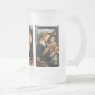 Filippo Lippi and Madonna with the Child and Frosted Glass Beer Mug