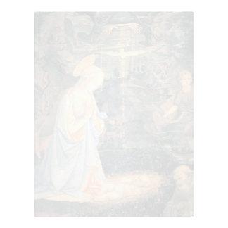 Filippo Lippi- la adoración del Jesús infantil Plantillas De Membrete
