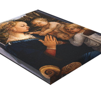 Filippo Lippi- Madonna and Child with two Angels Canvas Print