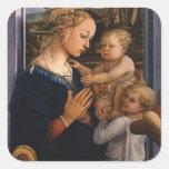 Filippo Lippi- Madonna y niño con dos ángeles Colcomanias Cuadradass
