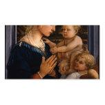 Filippo Lippi- Madonna y niño con dos ángeles Tarjetas De Visita