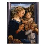 Filippo Lippi- Madonna y niño con dos ángeles Postales