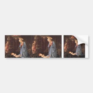 Filippo Lippi- The Adoration of the Infant Jesus Bumper Stickers