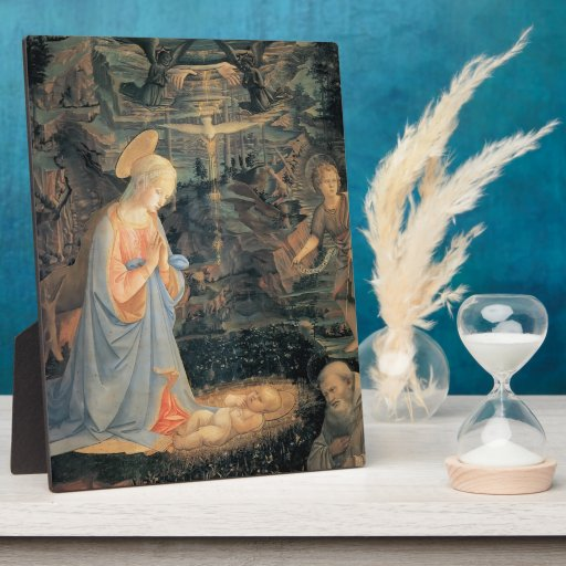 Filippo Lippi- The Adoration of the Infant Jesus Plaques