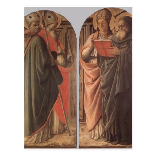 Filippo Lippi- The Doctors of the Church Post Cards