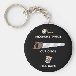 Fill Gaps Basic Round Button Keychain