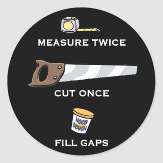 Fill Gaps Classic Round Sticker