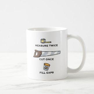 Fill Gaps Classic White Coffee Mug
