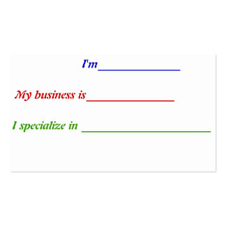 Fill-in-the-blank Business Card